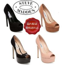 Steve Madden Open Toe Platform Plain Party Style Platform Pumps & Mules