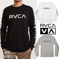 RVCA Street Style Long Sleeves Plain Cotton Long Sleeve T-Shirts