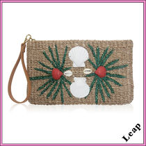 Ron Herman Tropical Patterns Casual Style Plain Handmade Clutches