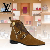 Louis Vuitton Monogram Rubber Sole Casual Style Suede Blended Fabrics