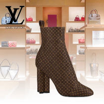 Louis Vuitton MONOGRAM Monogram Block Heels Ankle & Booties Boots