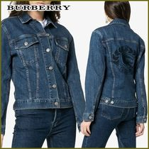 Burberry Short Casual Style Denim Street Style Jackets