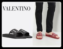 VALENTINO VLTN Unisex Street Style Plain Shower Shoes Shower Sandals