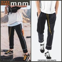 MNML Street Style Plain Cropped Pants