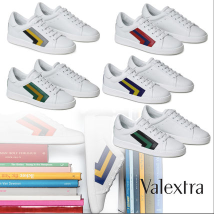 Rubber Sole Unisex Leather Low-Top Sneakers