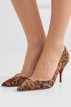 Christian Louboutin Leopard Patterns Suede High Heel Pumps & Mules