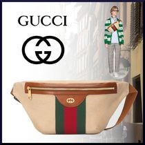 GUCCI Unisex Canvas Plain Messenger & Shoulder Bags