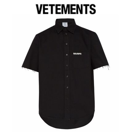 VETEMENTS Shirts Street Style Cotton Short Sleeves Shirts