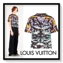 Louis Vuitton Crew Neck Pullovers Tie-dye Cotton Short Sleeves