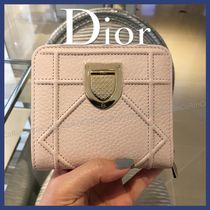 Christian Dior DIORADDICT Calfskin Folding Wallets