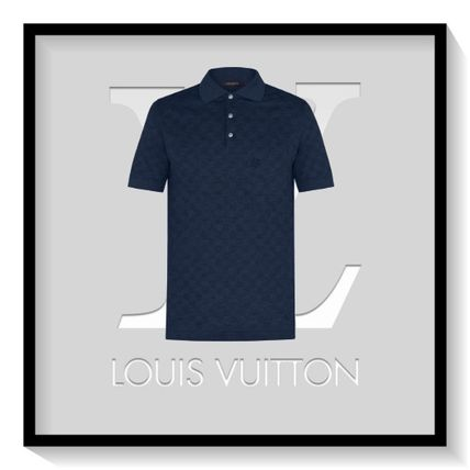Louis Vuitton Polos Pullovers Other Check Patterns Cotton Short Sleeves Polos