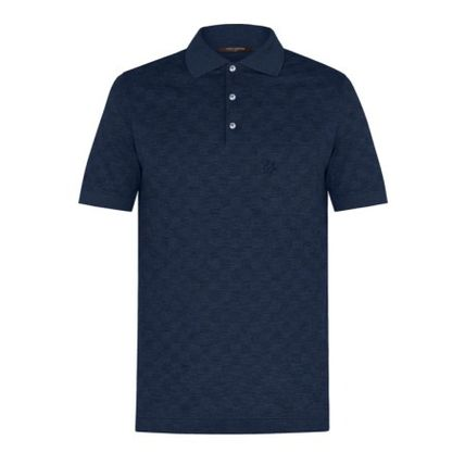 Louis Vuitton Polos Pullovers Other Check Patterns Cotton Short Sleeves Polos 2