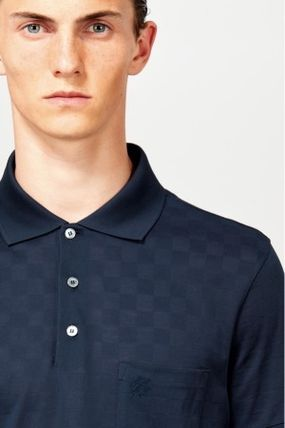 Louis Vuitton Polos Pullovers Other Check Patterns Cotton Short Sleeves Polos 4