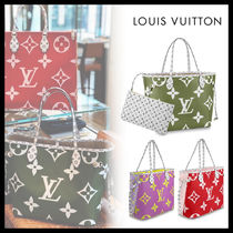 Louis Vuitton MONOGRAM Monogram Casual Style Canvas Khaki Totes