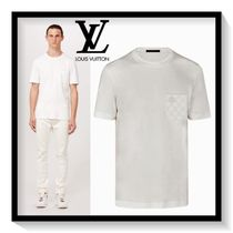 Louis Vuitton Crew Neck Pullovers Other Check Patterns Plain Cotton