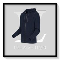 Louis Vuitton Long Sleeves Plain Cotton Sweatshirts