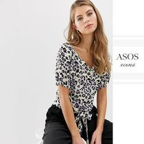 ASOS Leopard Patterns Casual Style Street Style Short Sleeves