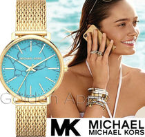Michael Kors Round Party Style Quartz Watches Stainless Analog Watches