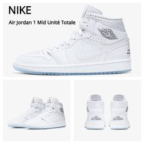 Nike JORDAN 1 Round Toe Lace-up Casual Style Low-Top Sneakers