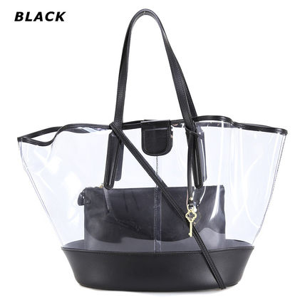 Bag in Bag Plain Crystal Clear Bags PVC Clothing Totes