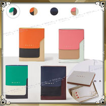MARNI Bi-color Leather Folding Wallets