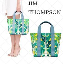 JIM THOMPSON Flower Patterns Camouflage Canvas Blended Fabrics Totes
