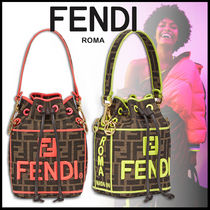 FENDI MON TRESOR Monogram 3WAY Elegant Style Shoulder Bags