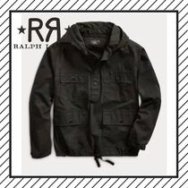 RRL Camouflage Street Style Long Sleeves Plain Cotton Tops