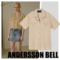 ANDERSSON BELL Casual Style Short Sleeves Shirts & Blouses