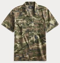 RRL Camouflage Street Style Cotton Short Sleeves Shirts