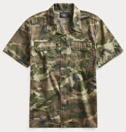 RRL Camouflage Street Style Cotton Short Sleeves Surf Style