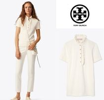 Tory Burch Plain Short Sleeves Polos
