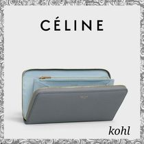 CELINE Zipped Calfskin Long Wallets