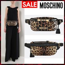 Moschino Leopard Patterns Nylon Elegant Style Bags