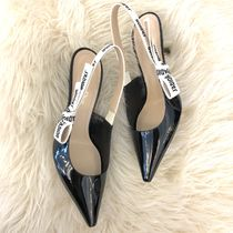 Christian Dior JADIOR Leather Pin Heels Pointed Toe Pumps & Mules