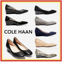 Cole Haan Round Toe Casual Style Plain Other Animal Patterns Leather
