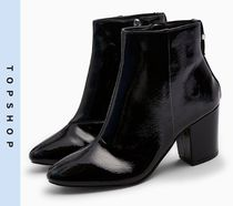 TOPSHOP Casual Style Faux Fur Mid Heel Boots