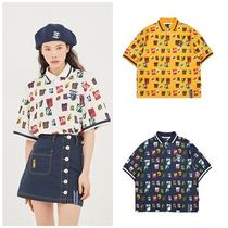 ROMANTIC CROWN Casual Style Unisex Street Style Medium Short Sleeves