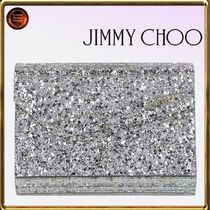 Jimmy Choo Calfskin Chain Party Style Clutches