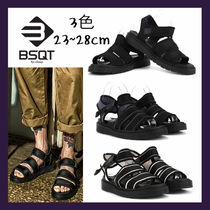 BSQT Unisex Collaboration Leather Sandals