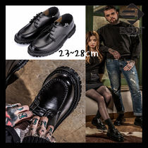 BSQT Unisex Collaboration Leather Oxfords