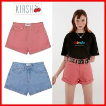 KIRSH Casual Style Street Style Cotton Denim & Cotton Shorts