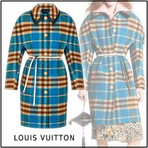 Louis Vuitton 2019-20AW KIMONO SLEEVES COAT blue 32-36 Coats