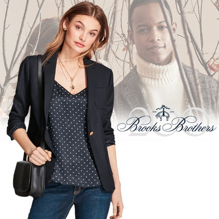 Casual Style Wool Plain Jackets