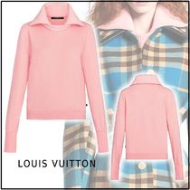 Louis Vuitton 2019-20AWLONG SLEEVED PULLOVER pink XS-L Sweaters
