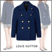 Louis Vuitton 2019-20AW KIMONO SLEEVES PEACOAT navy 34-38 coats