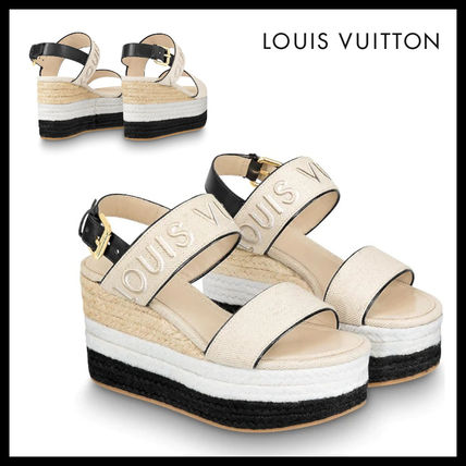 Open Toe Casual Style Platform & Wedge Sandals