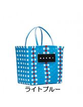 MARNI MARNI MARKET Other Plaid Patterns Zigzag Handmade PVC Clothing Straw Bags