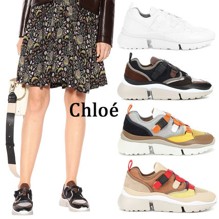 Rubber Sole Casual Style Blended Fabrics Street Style Plain
