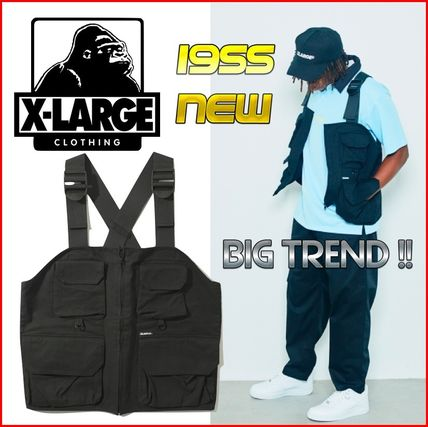 X-Large Vests & Gillets Unisex Nylon Street Style Plain Vests & Gillets